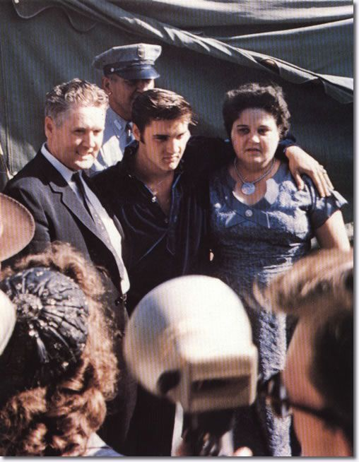 Vernon, Elvis and Gladys Presley Tupelo Mississippi.
