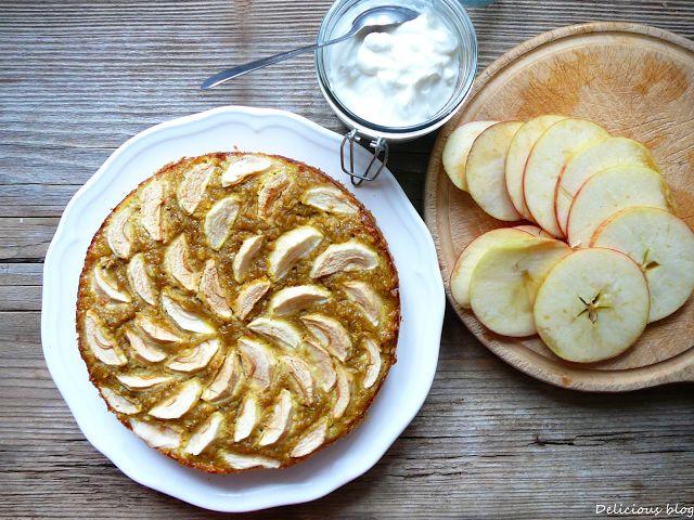 Delicious blog: Jablkovo-cizrnový koláč