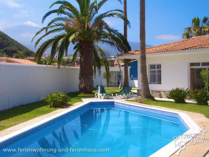 #Bungalow mit Pool im Taoro Park in Puerto de la Cruz in #Teneriffa