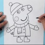 How to draw peppa pig pencil easy