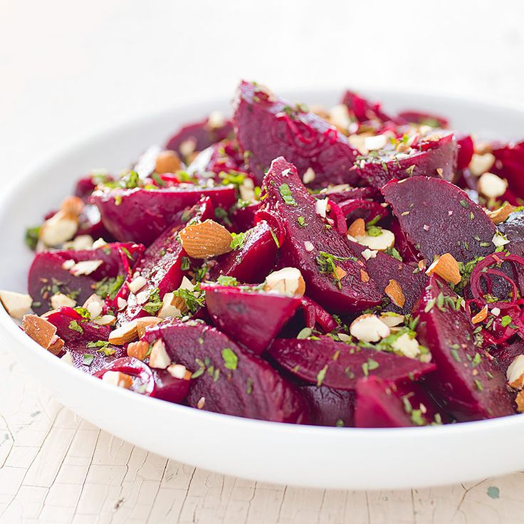 Beets with Lemon and Almonds - America's Test Kitchen