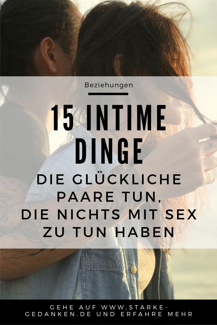 15 Intime Dinge, die glückliche Paare tun, die nichts mit Sex zu tun haben