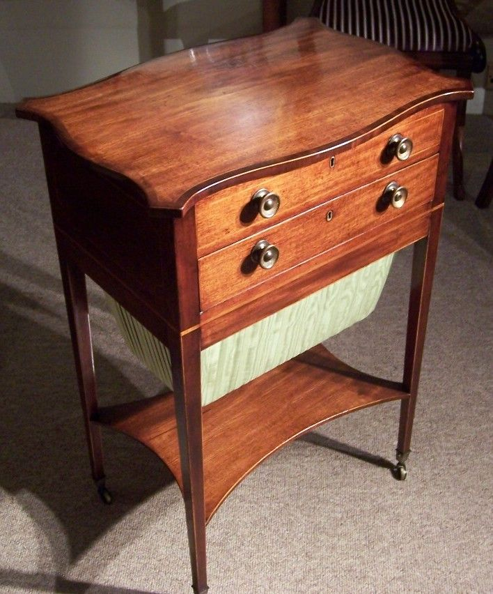 Charming Geo III Mahogany Work Table With Serpentine Crossbanded Top FOR  SALE! Http:/. English Antique FurnitureSewing ...