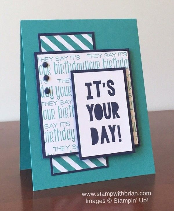 Suite Sayings, Party with Cake, Stampin' Up!, Brian King, Birthday Card