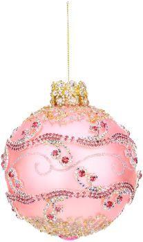 "Ruby Passion Jewel Ball Ornament #36-54150 5"" | Mark Roberts King's Jewel Ornament Collection | Mark Roberts Glass Christmas Ornaments"