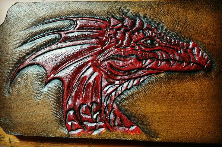 Красный дракон в процессе работы.