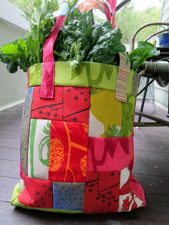 Bag made of scraps from Nicola Cerini bags.