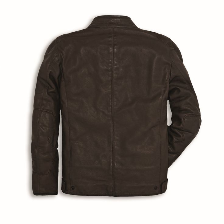 The Downtown leather jacket, produced by Dainese exclusively for Ducati, is produced in refined full grain Vintage leather which, thanks to special treatments, is particularly soft and has a natural and attractive appearance. The garment, available as a men's and women's version, is equipped