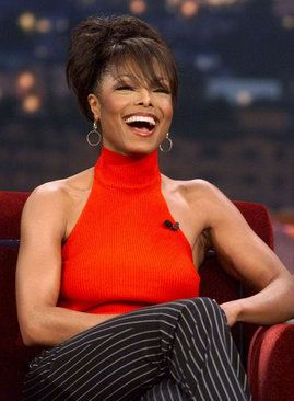 "2001: Janet Jackson during her first ever appearance on ""The Tonight Show"" (REUTERS/Fred Prouser)"