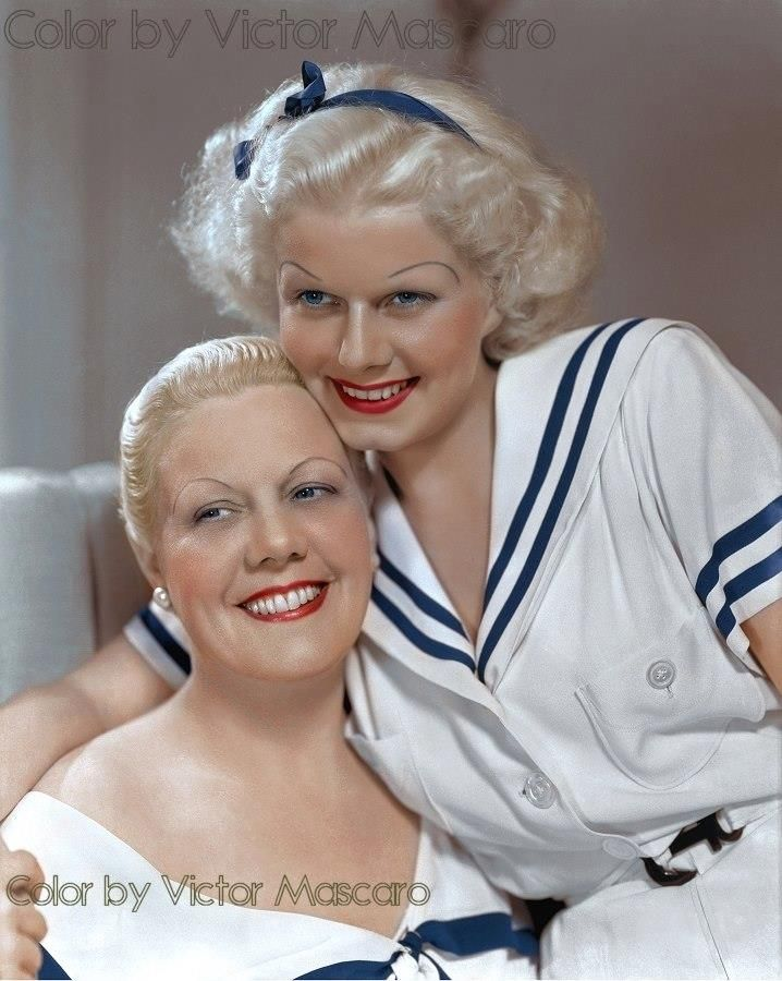 Jean Harlow with her mom also named Jean Harlow
