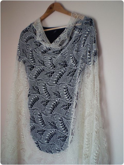 Estonian Haapsalu shawl- hand knitted cobweb lace shawl by LENA1130