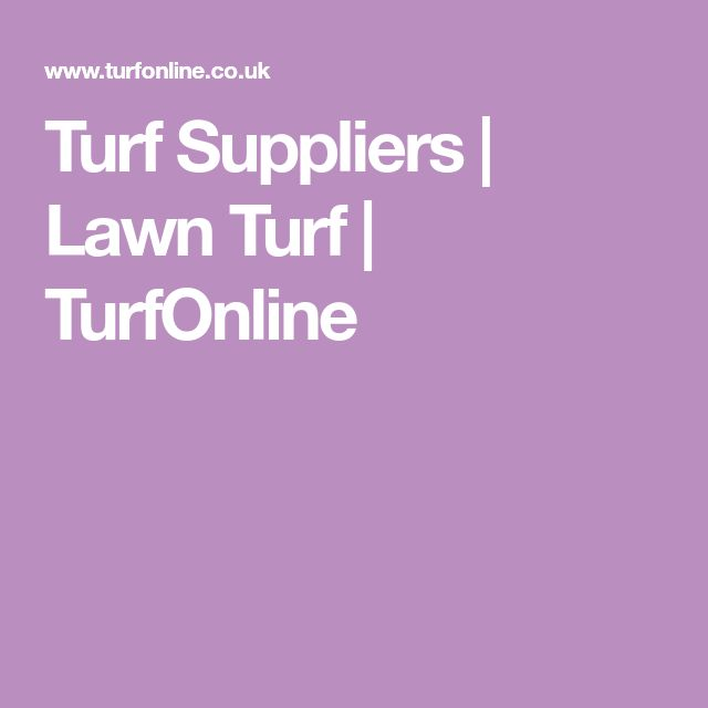 Turf Suppliers | Lawn Turf | TurfOnline