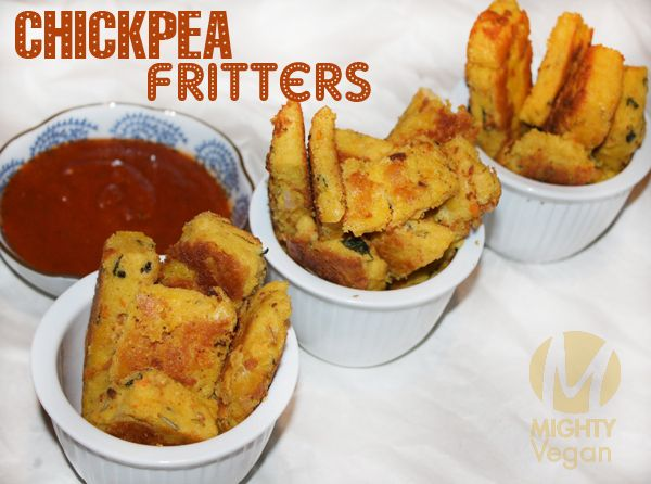 Vegan Chickpea Fritters, delicious and healthy even though it doesn't ...