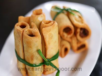 21 best fusion images on pinterest sanjeev kapoor cooking food how to make special chicken sausage samose unique samose stuffed chicken sausages forumfinder Images