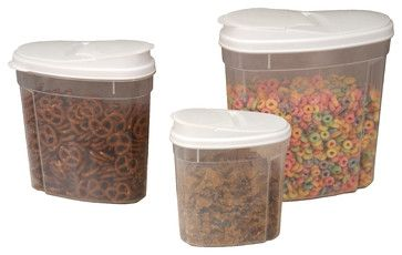 Store And Pour Container Set 3all Purpose Covered contemporary food containers and storage