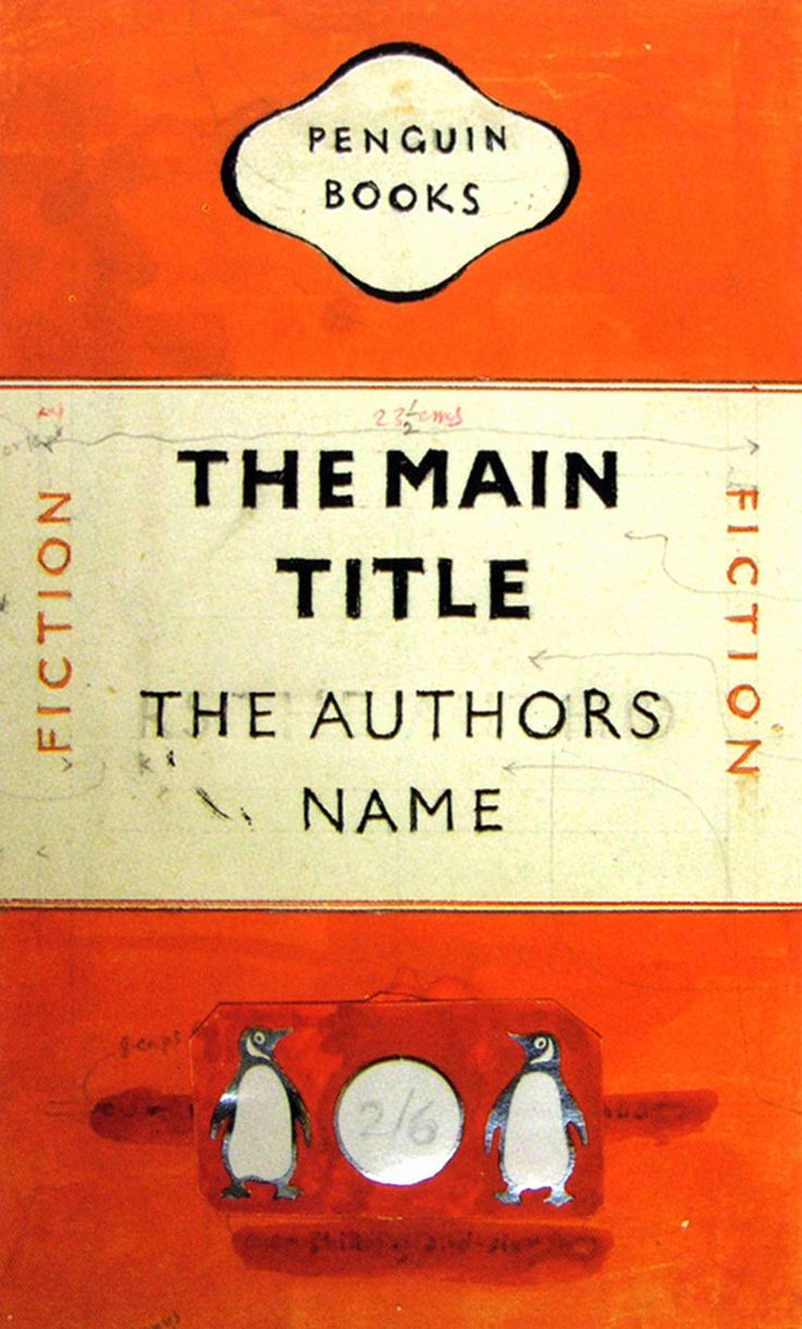 Penguin book cover by Jan Tschichold (1948) — (111 x 181mm) ・・・ Tschichold's first revision of standardising Penguin series covers, which took existing elements and refined their visual arrangement. The covers conformed to the golden ration