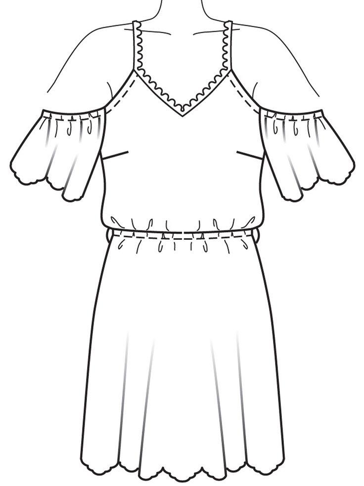 Платье с ажурными фестонами