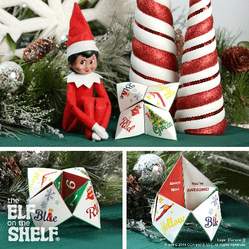 Fun Fortune Teller | Elf on the Shelf Ideas