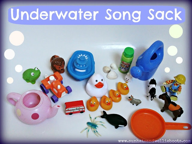 Underwater Song Sack - great for sharing songs & play together at bath time.: Songs Sacks, Fun Activities, Water Play, Welli Boots, Underwater Songs, Bath Recipes, Kids Fun, Sun Hats, Bath Time