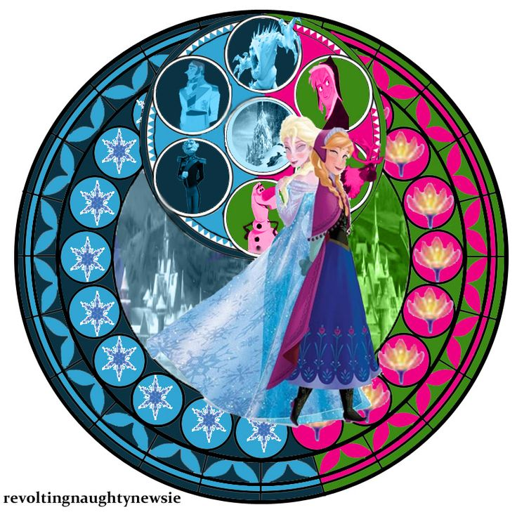 revoltingnaughtynewsie:  Kingdom Hearts-Elsa and Anna Stain Glass Window  (c) Artwork by Brittany Lee  Disney (c) Artwork of the snowflakes, flower, Hans, Kristoff,  Sven from notsoplainjane (c) Template by witchenmoon1 Sorry that a) Anna and Elsa look weird. it was my first time with closing eyes and b) the Duke and the Marshmallow are the only ones in CGI.  A new version of it may come when the movie comes when we have new details of the plot and new concept art (like trolls) out. This…