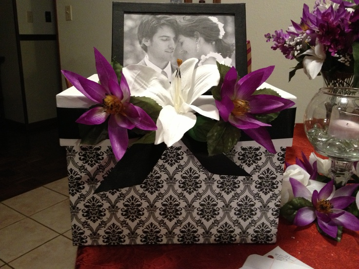Wedding Gift Boxes Michaels : Wedding gift table card box. Bought the damask box from Michaels on ...
