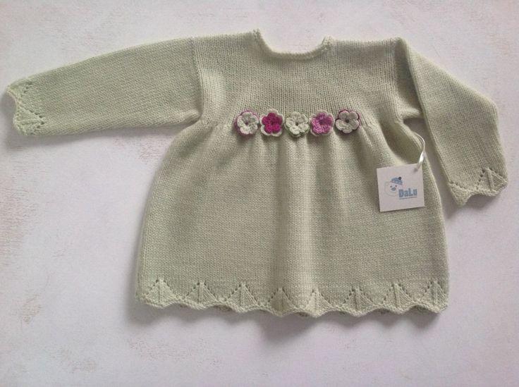 Handknitted детское платье / ребенок мериноса платье / ребенок от DaLuforkids