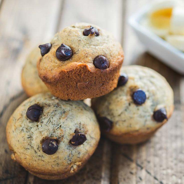 Muffins aux bananes et au chocolat