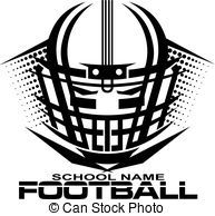 football helmet with facemask - tribal football team design...