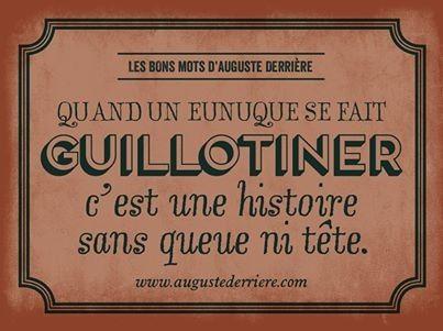 Humour d'Auguste Derriere