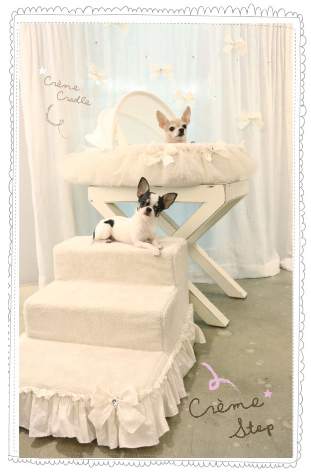 Berceau Crème Cradle Louisdog - dog bed - panier chien - sweetie dog chihuahua - www.sweetiedog.com