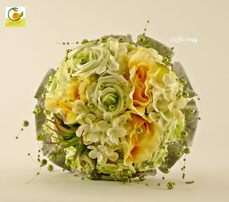 Silk flower bouquet - www.ceffavirag.hu