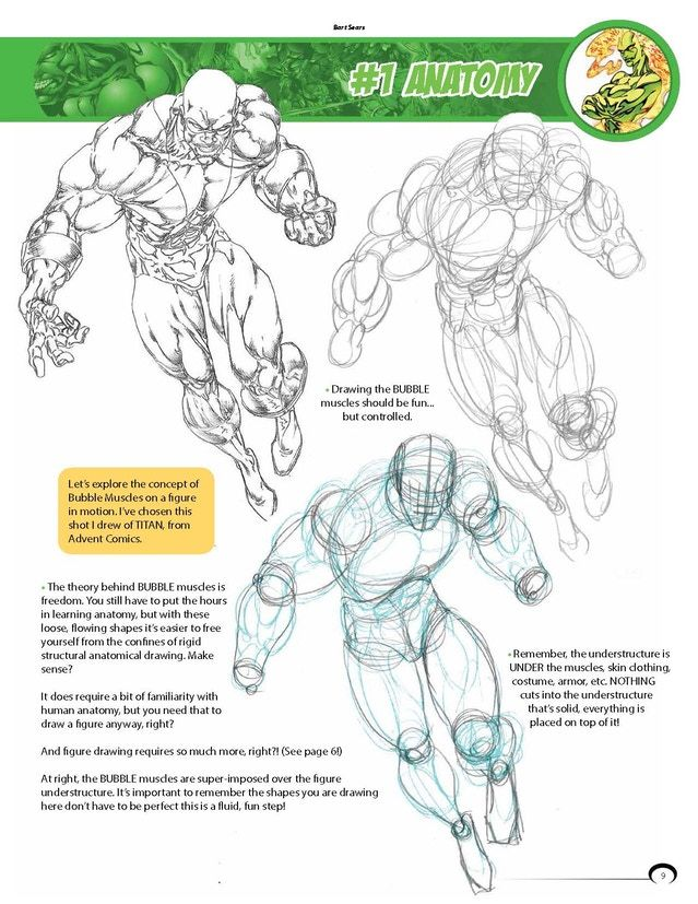 drawing powerful heroes pdf - Google Search | Bart Sears in