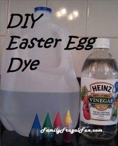 DIY Homemade Easter Egg Dye - Super frugal and EASY!