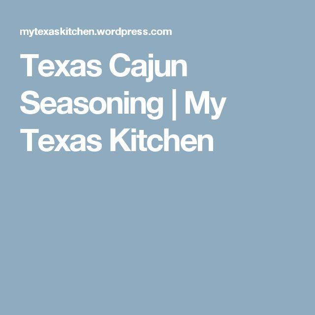 Texas Cajun Seasoning   My Texas Kitchen