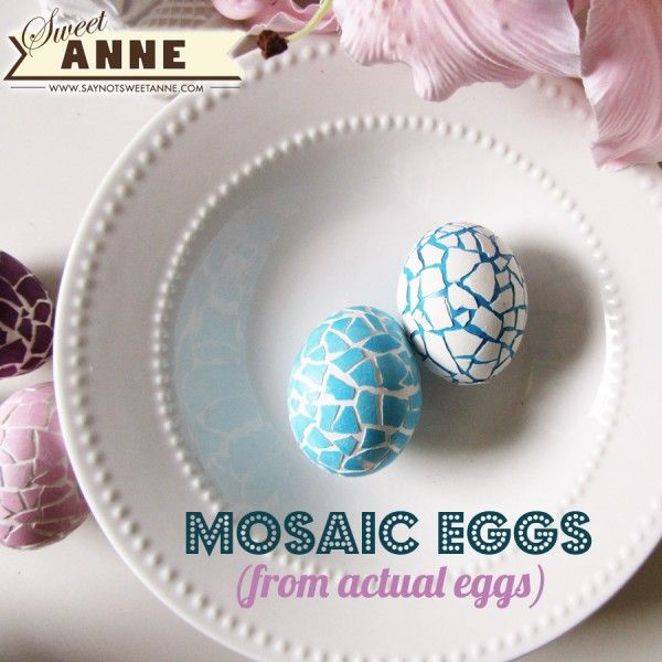 15 Easter Egg Decorating Ideas - DIY Mosaic Eggs