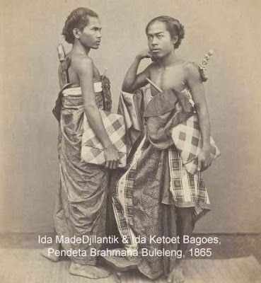 Balinese Hindu Brahmana in Buleleng kingdom, 1865. Bali