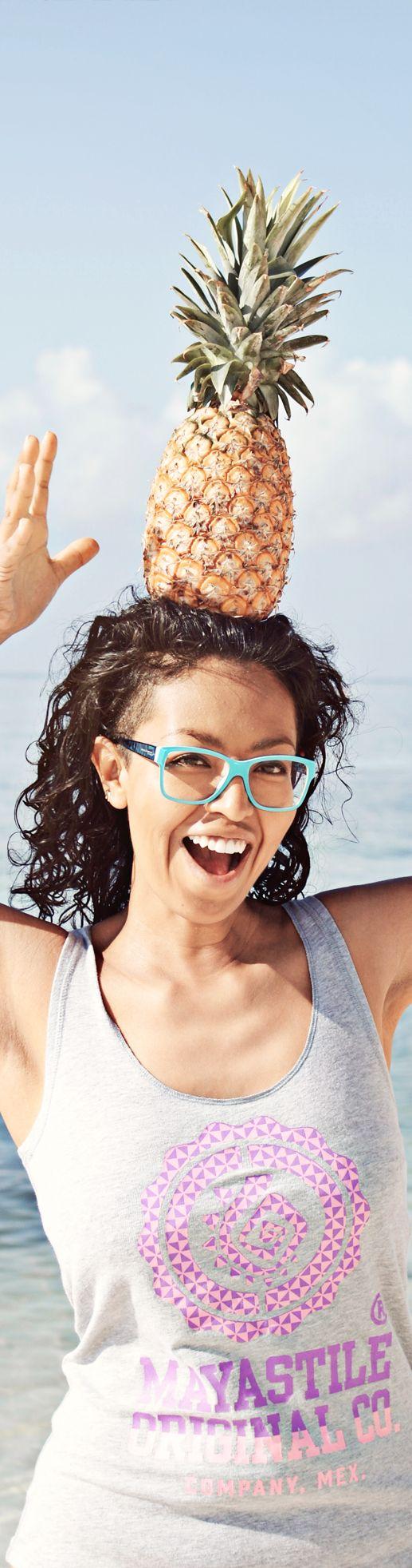 Maystile Tank Top #tanktop #summer #pineapple #playadelcarmen #model #beach