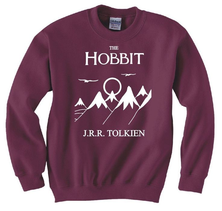 HOBBIT, LORD OF THE RINGS, FRODO, BOOK COVER SWEATSHIRT NEW: