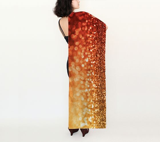 """Long+Scarf+(16""""+x+72"""")+""""Sunset+glitter""""+by+evlogiacustomdesigns"""