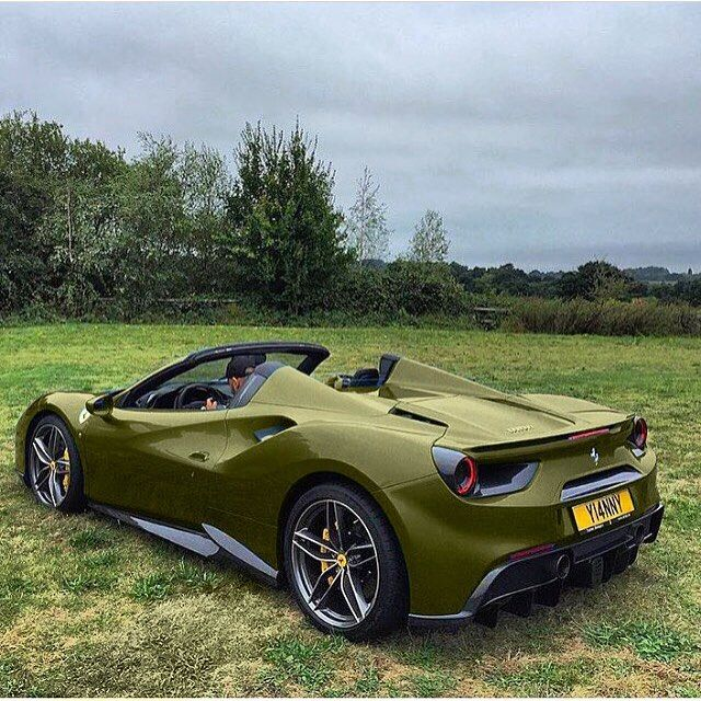 """7,312 Likes, 57 Comments - Exoticsscars (@exoticsscars) on Instagram: """"Military Green 488! Rate 1-100?  ━━━━━━━━━━━━━━━━━━━━━━━━━━━━━━ #Ferrari #exoticsscars…"""""""