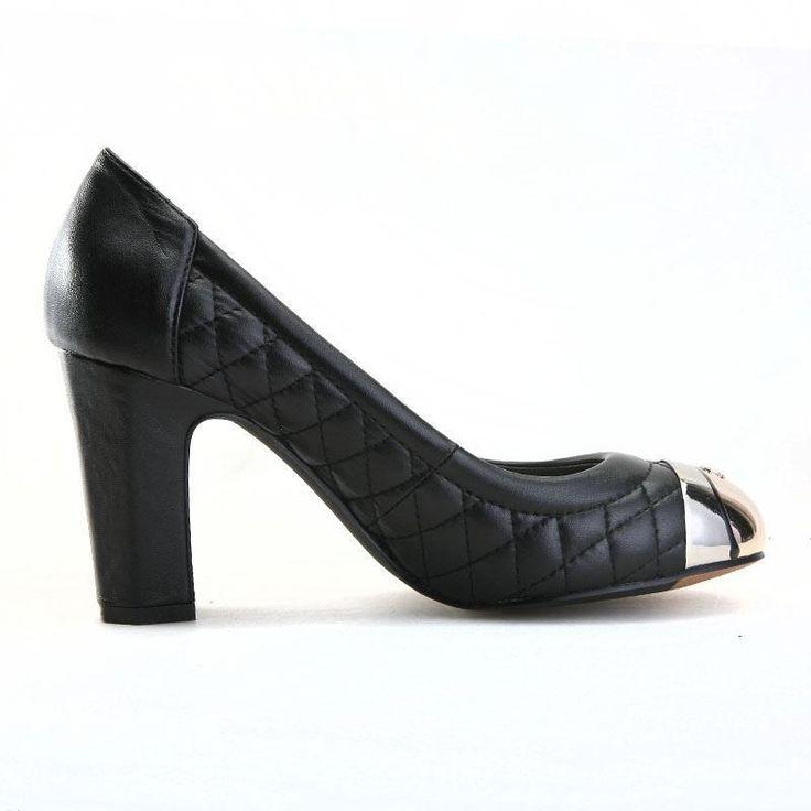 Новый 2014 Весенняя мода овчины туфли на высоком каблуке женщина насосы толстые каблуки тисненые кожаные известным брендом размер обуви 34 41, принадлежащий категории Насосы и относящийся к Обувь на сайте AliExpress.com
