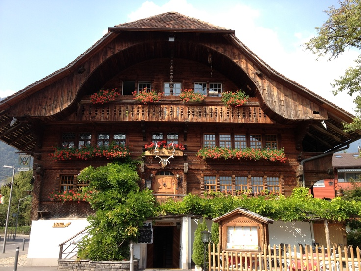 Swiss chalet in interlaken swiss architecture pinterest for Swiss homes