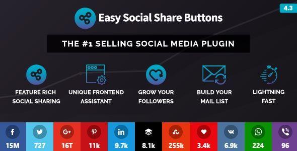 افزونه وردپرس دکمه اشتراک گذاری مطالب در شبکه های اجتماعی Easy Social Share Buttons for WordPress