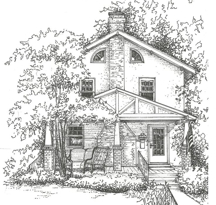 Ink House Drawing Custom Artwork Of Your Home Hand Drawn Ink House Portrait