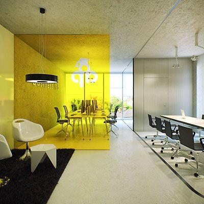Cloison translucide jaune
