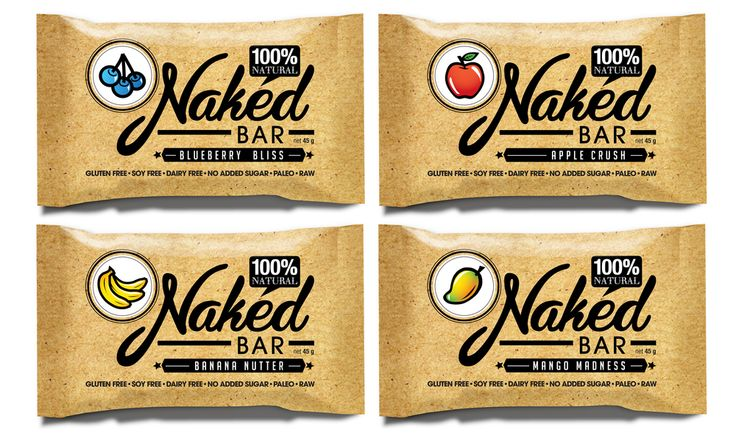 Naked Bars are nutritious bars made from nuts, fruit and spices. The product contains only these whole foods, cut and mixed together. That's all!