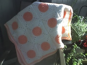 Crochet Polka Dot Blanket Pattern by AndreaLBaker on Etsy