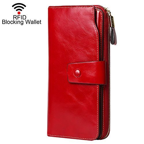 New Trending Purses: Dante RFID Blocking Large Capacity Wax Real Leather Wallet Clutch Travel Purse for Women(2083 Red). Dante RFID Blocking Large Capacity Wax Real Leather Wallet Clutch Travel Purse for Women(2083 Red)  Special Offer: $29.99  244 Reviews What is RFID? RFID (radio frequency identification) is a growing technology that uses radio waves to read and transfer information between devices....
