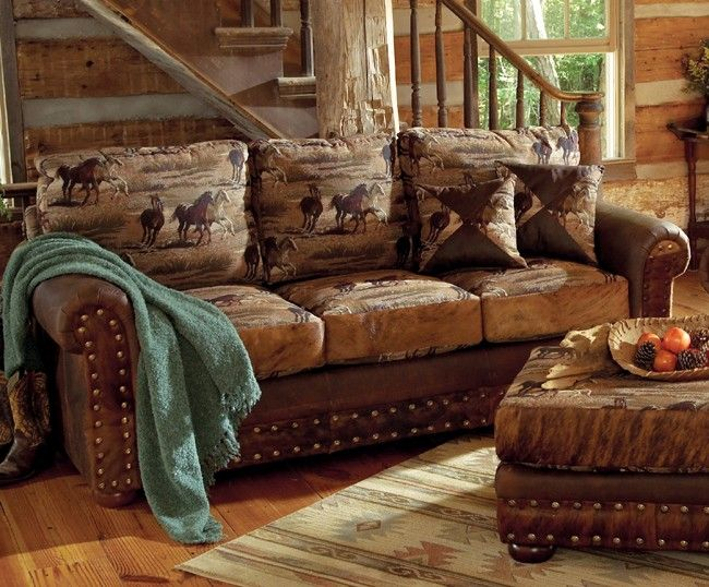 Vintage western ranch furniture western furniture for Cowboy themed bedroom ideas