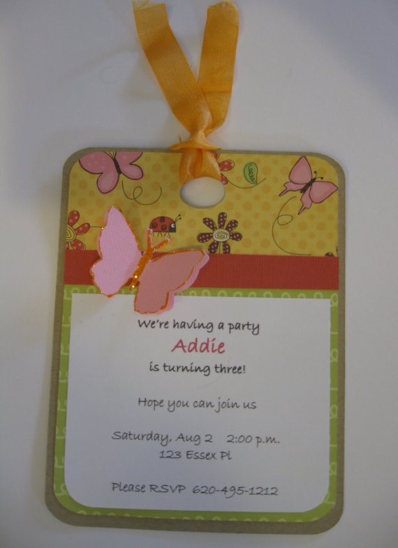 Butterfly Birthday Invitations  Set of 12 by cmariedesigns on Etsy, $22.00